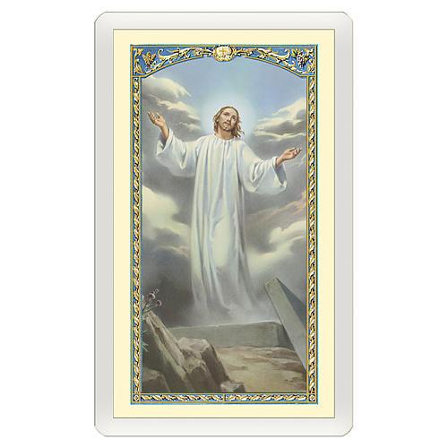 Estampa religiosa Jesús Resucitado No lloréis por mí ITA 10x5  1