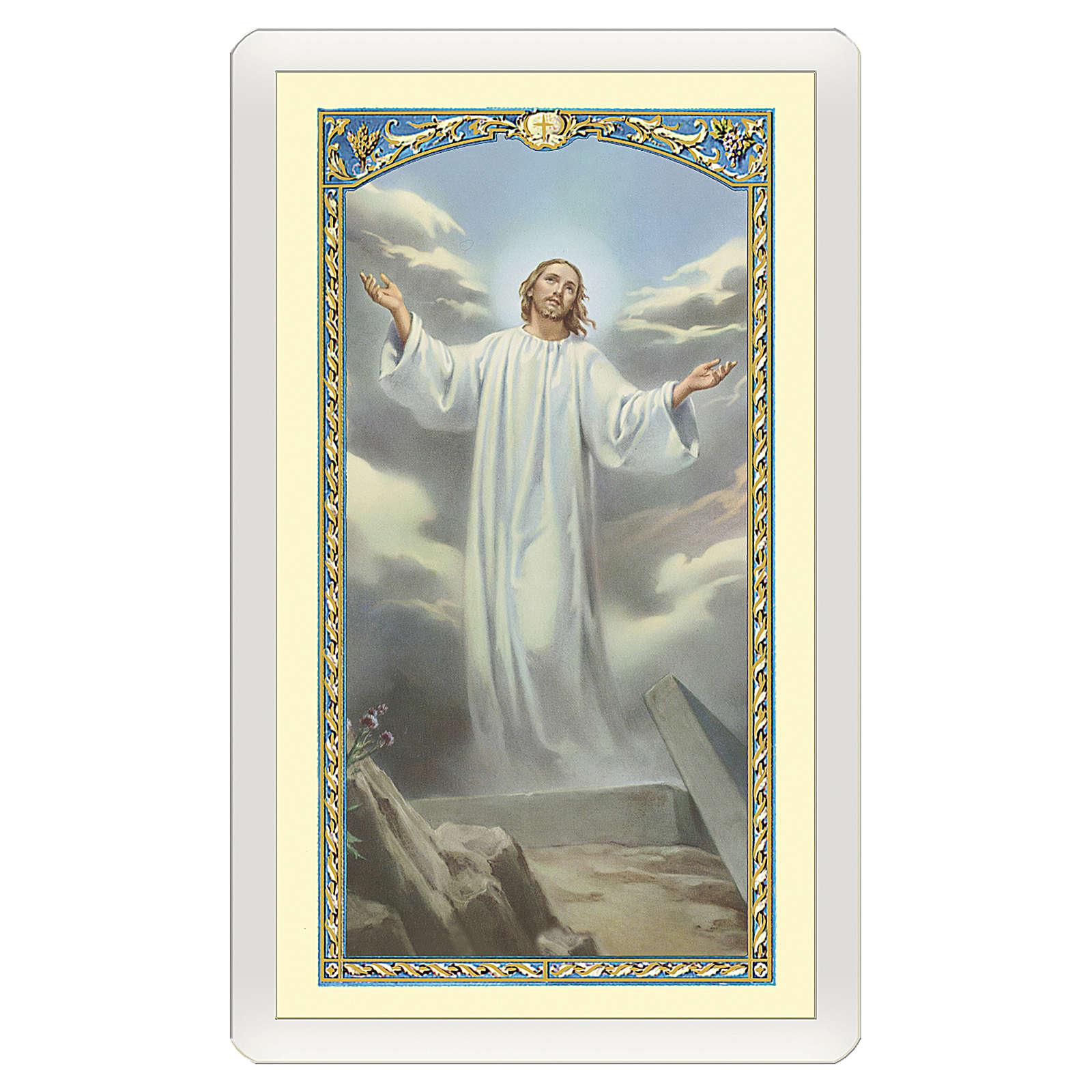 Image dévotion Jésus Ressuscité Ne pleure pas pour moi ITA 10x5 cm 4
