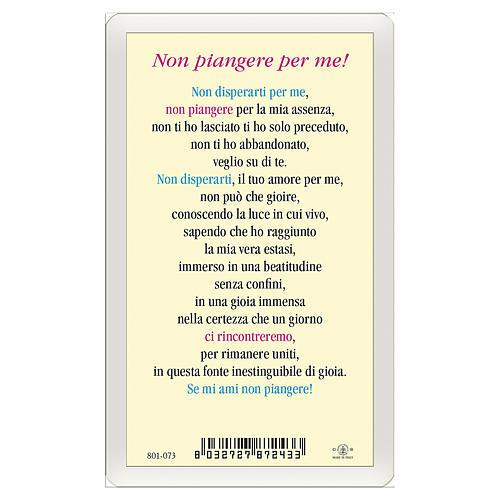Santino Gesù Risorto Non piangere per me ITA 10x5 2