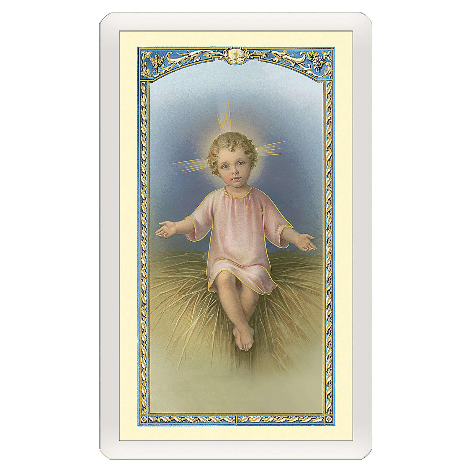 Image dévotion Enfant Jésus dans la mangeoire