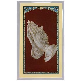 Santino Mani in preghiera di Durer Preghiera della Serenità ITA 10x5 s1