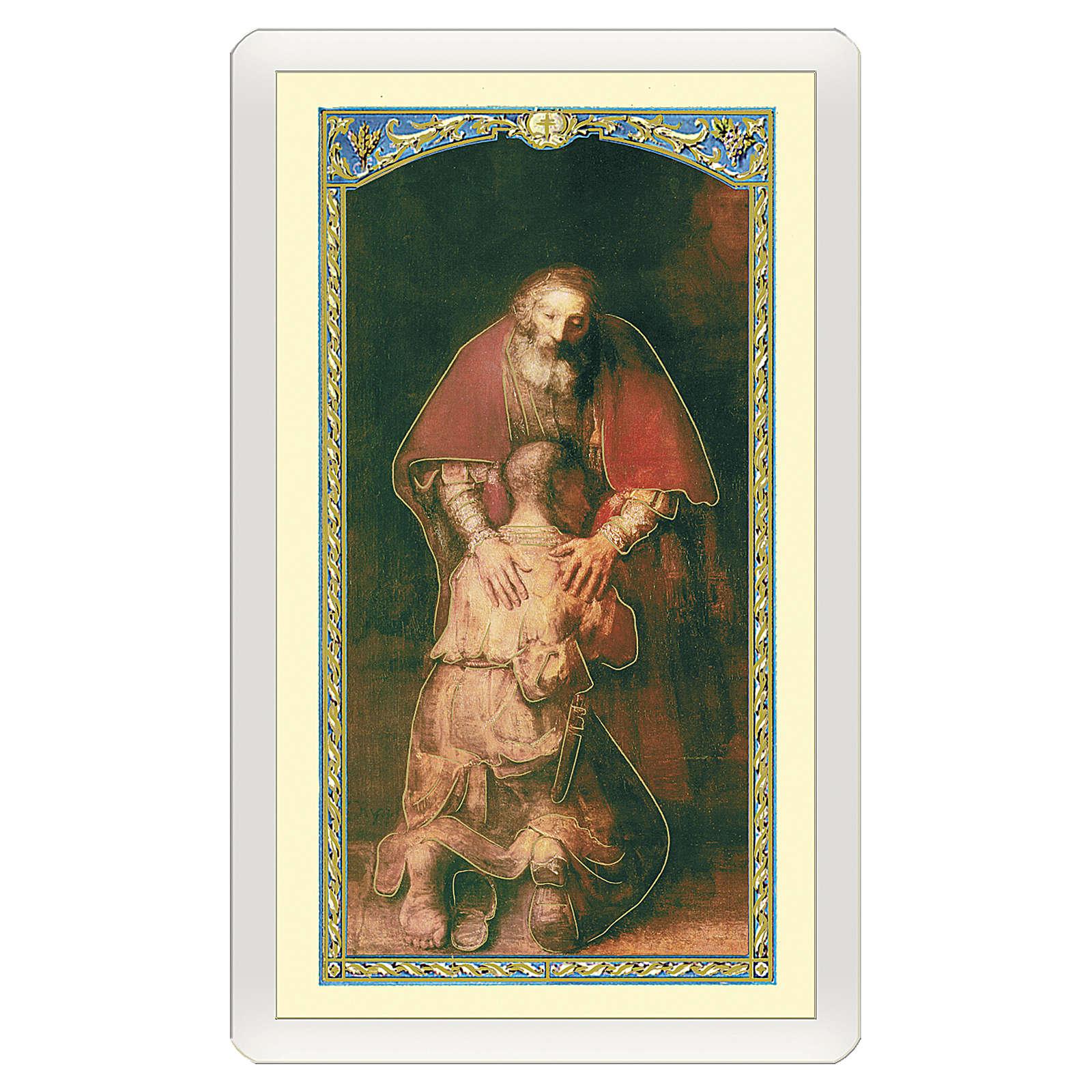 Estampa religiosa Hijo Pródigo Cantamos o Padre tu Amor ITA 10x5 4