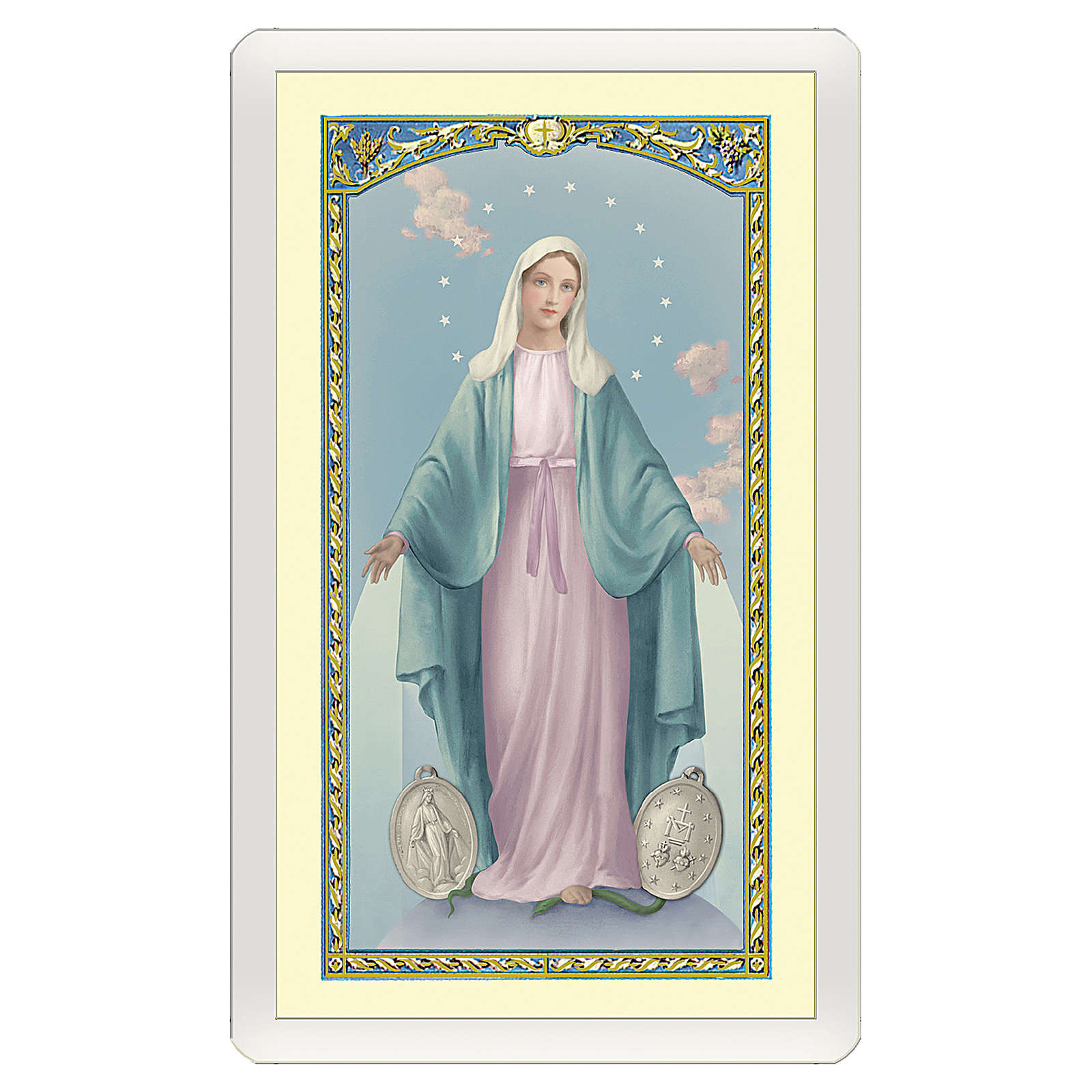 Santino Madonna Miracolosa Orazione Efficacissima ITA 10x5 4
