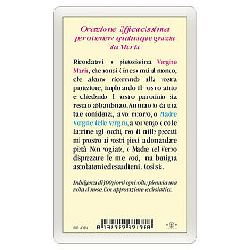 Santino Madonna Miracolosa Orazione Efficacissima ITA 10x5 s2