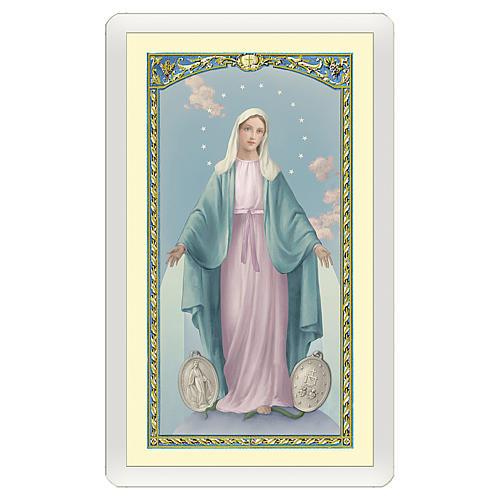 Santino Madonna Miracolosa Orazione Efficacissima ITA 10x5 1