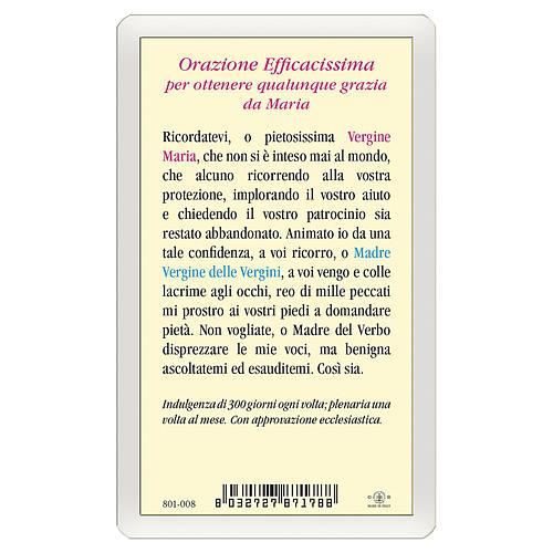 Santino Madonna Miracolosa Orazione Efficacissima ITA 10x5 2