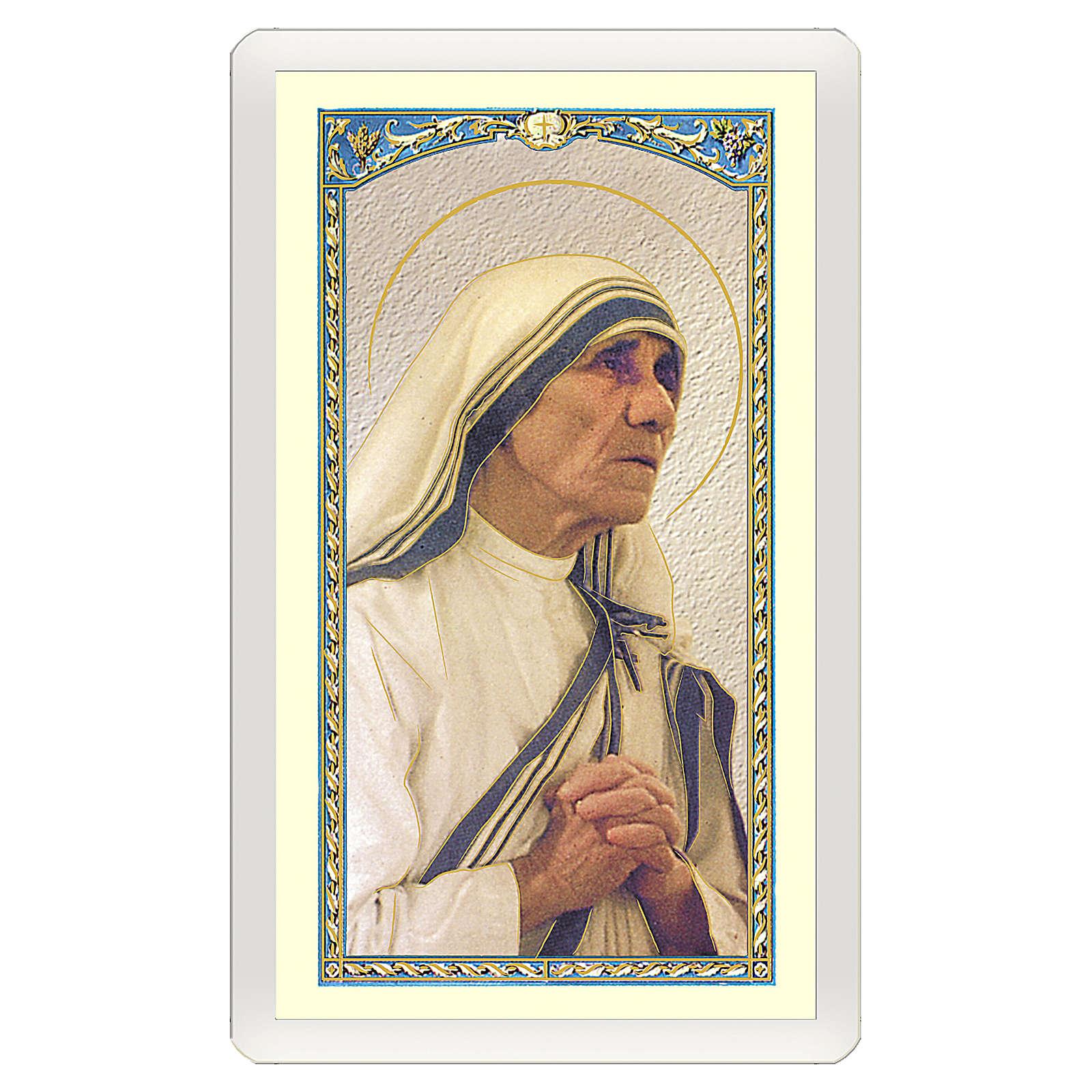 Santino Madre Teresa di Calcutta Dove v'è Amore ITA 10x5 4
