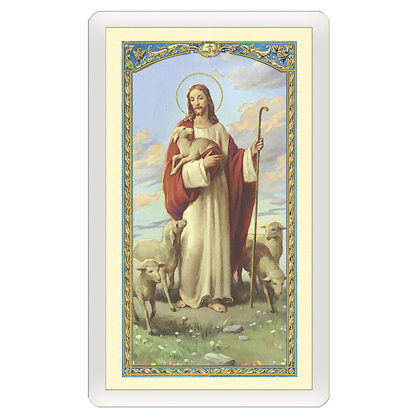 Santino Gesù Buon Pastore Oggi ho detto una Preghiera per Te ITA 10x5 4