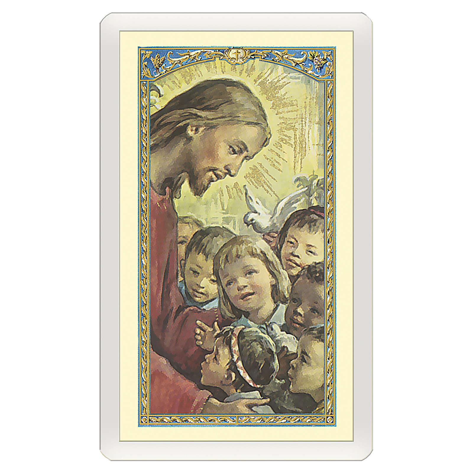 Santino Gesù con i bambini del mondo L'Amicizia ITA 10x5 4