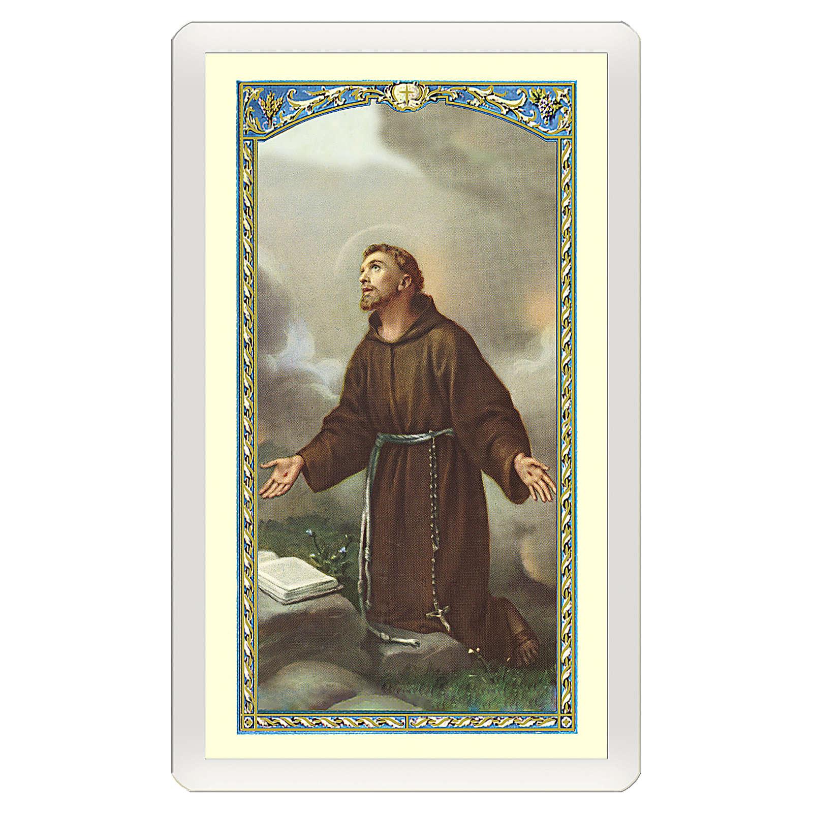 Santino San Francesco d'Assisi Dove v'è Amore ITA 10x5 4