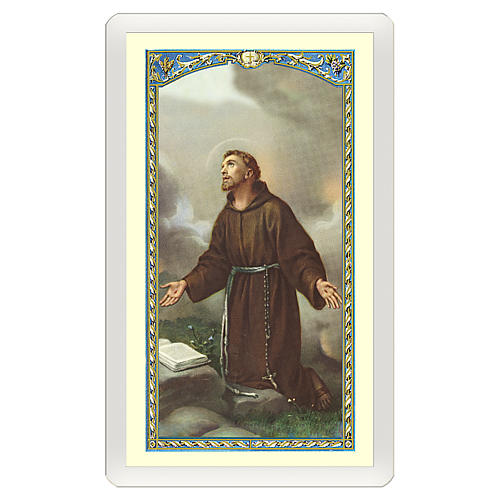 Santino San Francesco d'Assisi Dove v'è Amore ITA 10x5 1