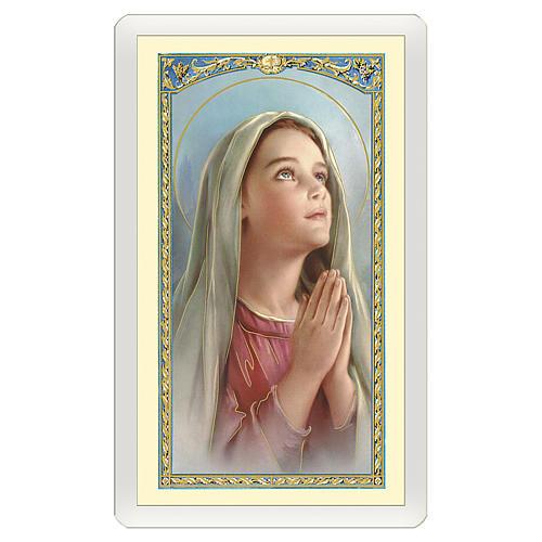 Santino Madonnina che prega Preghiera del Sorriso ITA 10x5 1
