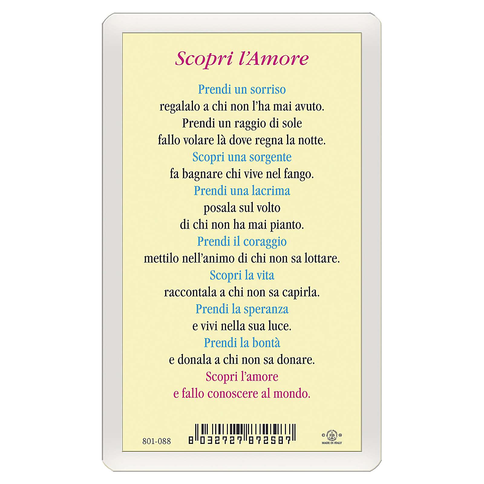 Santino Gesù Risorto Scopri l'Amore ITA 10x5 4