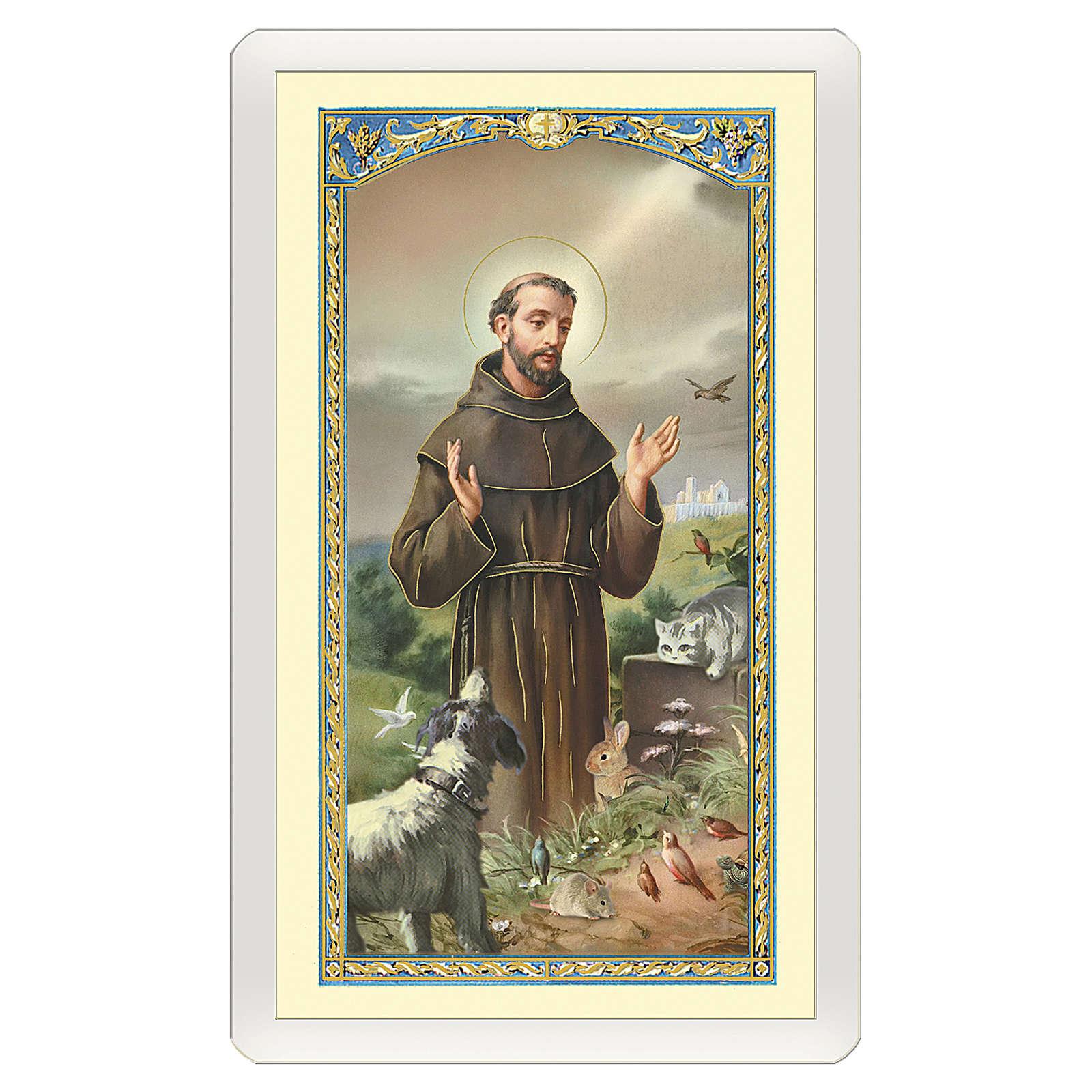 Santino San Francesco d'Assisi con il Lupo Il Ponte dell'Arcobaleno ITA 10x5 4