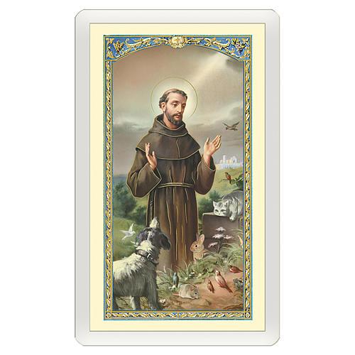 Santino San Francesco d'Assisi con il Lupo Il Ponte dell'Arcobaleno ITA 10x5 1