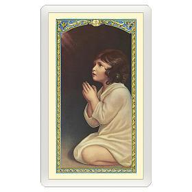 Image dévotion Petit Samuel Prière du Soir ITA 10x5 cm s1