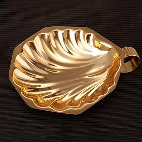 Zestaw naczyń do chrztu złoty satynowany s2