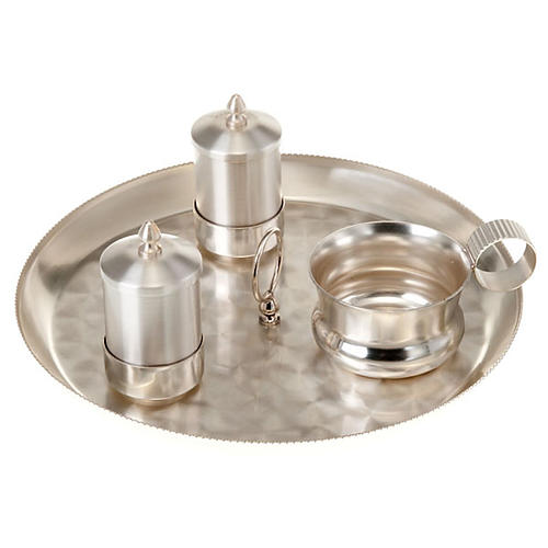 Baptism set satin silver 1