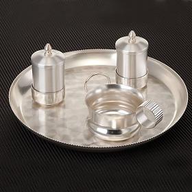 Conjunto bautismo plata satinado s2