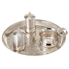 Zestaw naczyń do chrztu srebrny satynowany s1