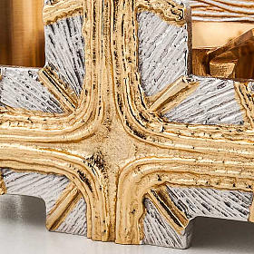 Baptism set silver and gold cross s3