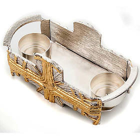 Baptism set silver and gold cross s5