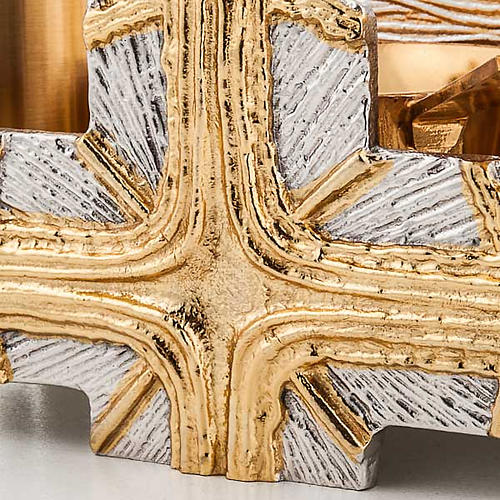 Baptism set silver and gold cross 3