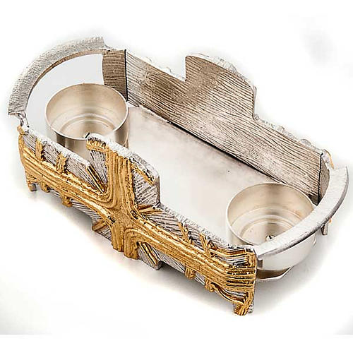 Baptism set silver and gold cross 5