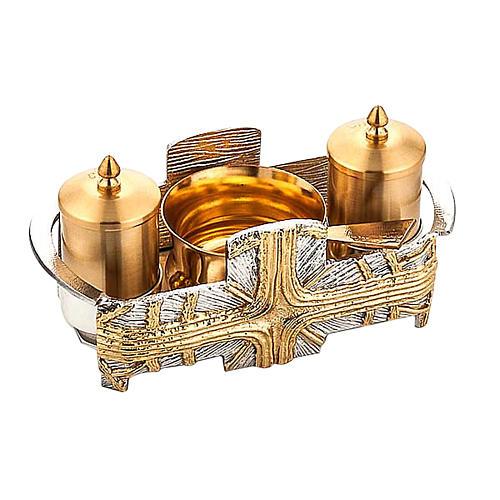 Servizio battesimo Croce oro e argento 1