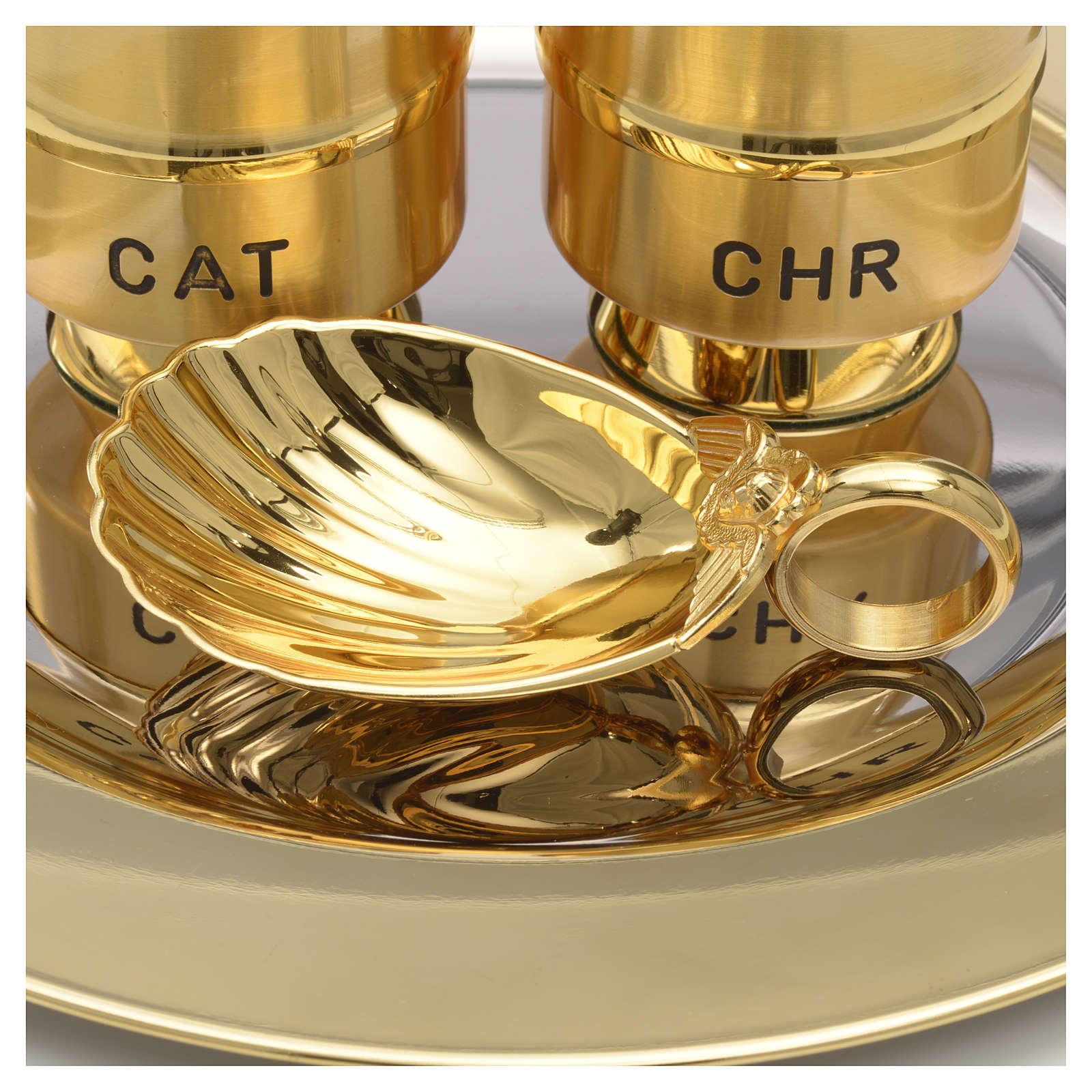 Oli santi: servizio vasetti ottone conchiglia 3