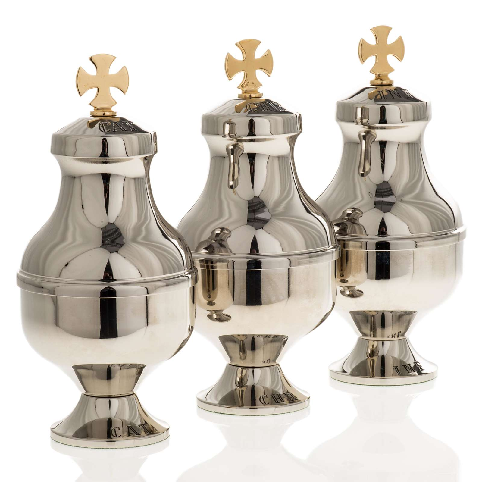 Holy Oils Vessels, nickel-plated 3
