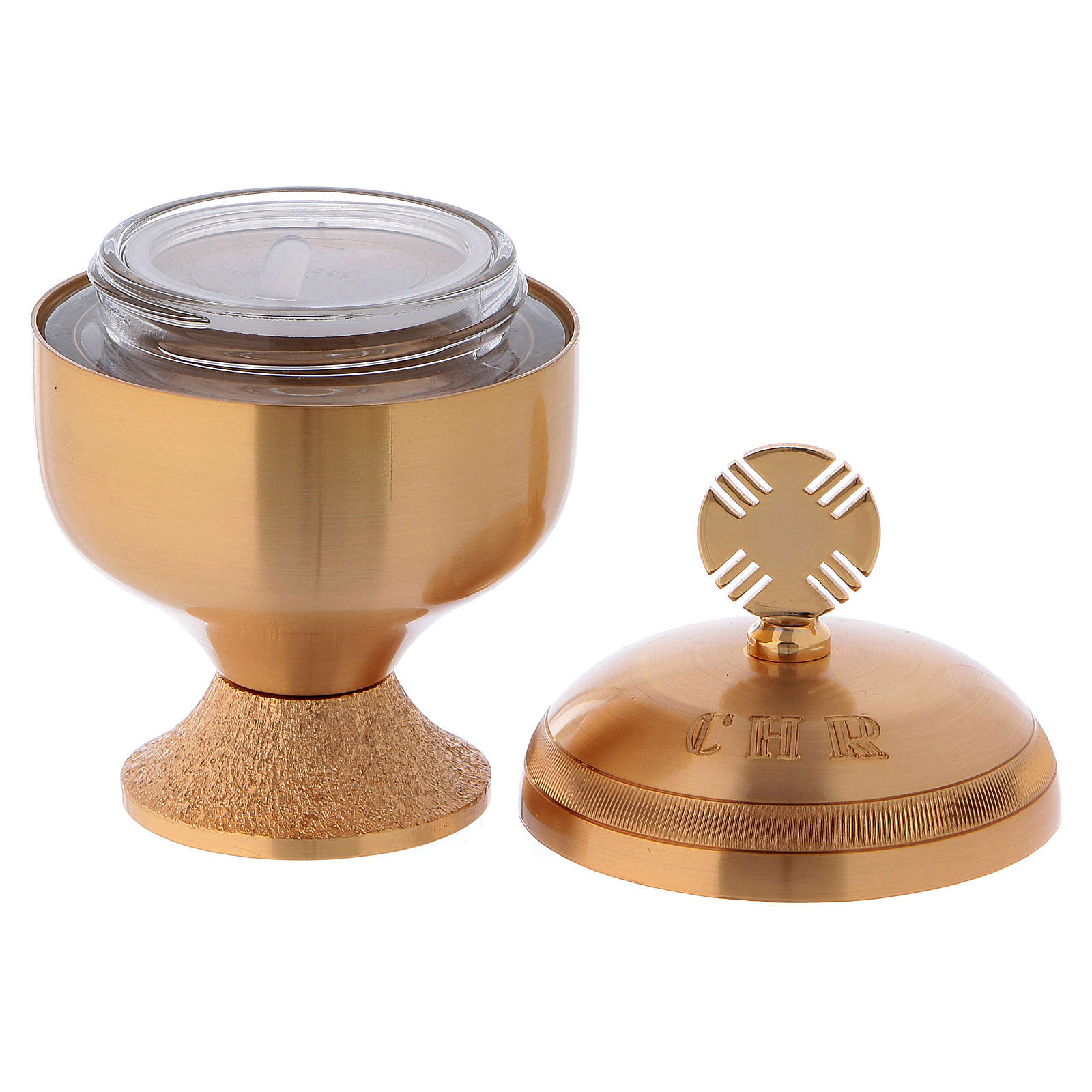 Holy oils: set with glossy stocks and a baptismal shell 3