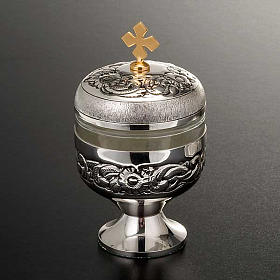 Holy oils: vase in chiseled silver-plated brass s5