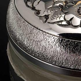 Ampoule saintes huiles argentée ciselée s9