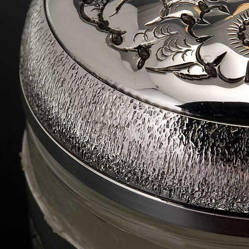 Ampoule saintes huiles argentée ciselée 9