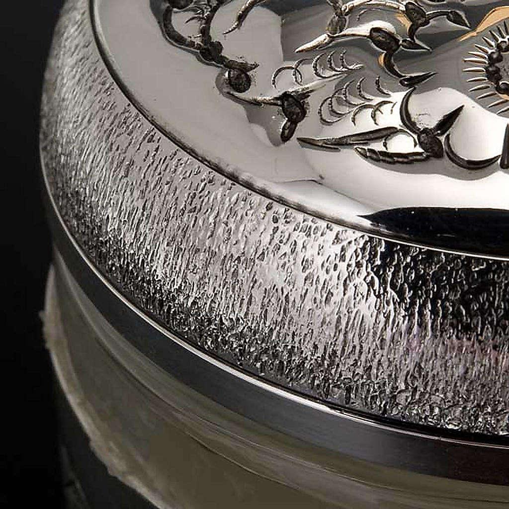 Oli santi: vasetto argentato cesellato 3