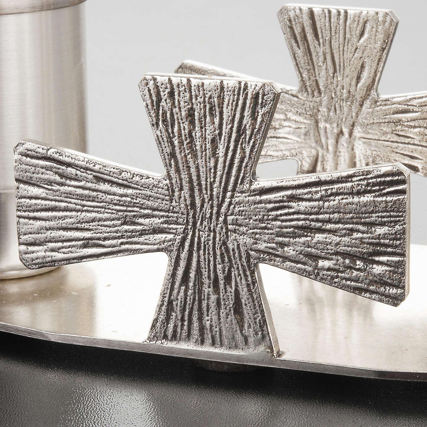 Servizio Battesimo ottone argentato croci 3
