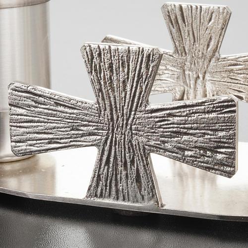 Servizio Battesimo ottone argentato croci 5