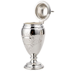 Set for Holy oils in 800 silver 18 cm s3