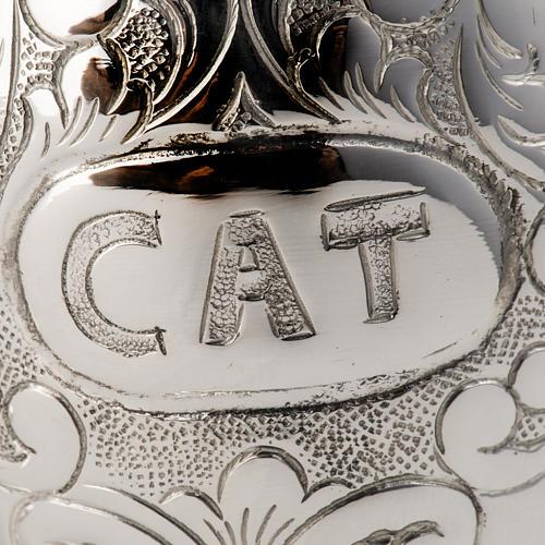 Servizio per oli sacri 18 cm argento 800 6
