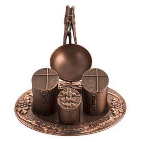 Servicio óleos sagrados bronce natural s1