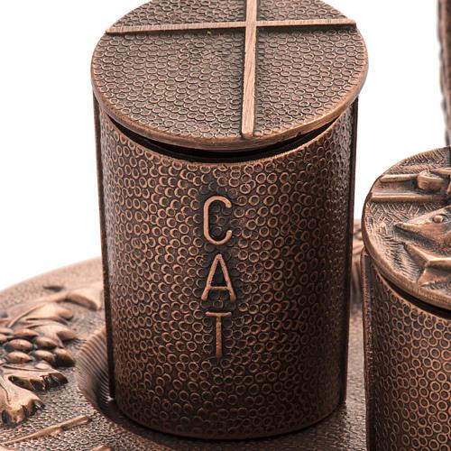 Servicio óleos sagrados bronce natural 5