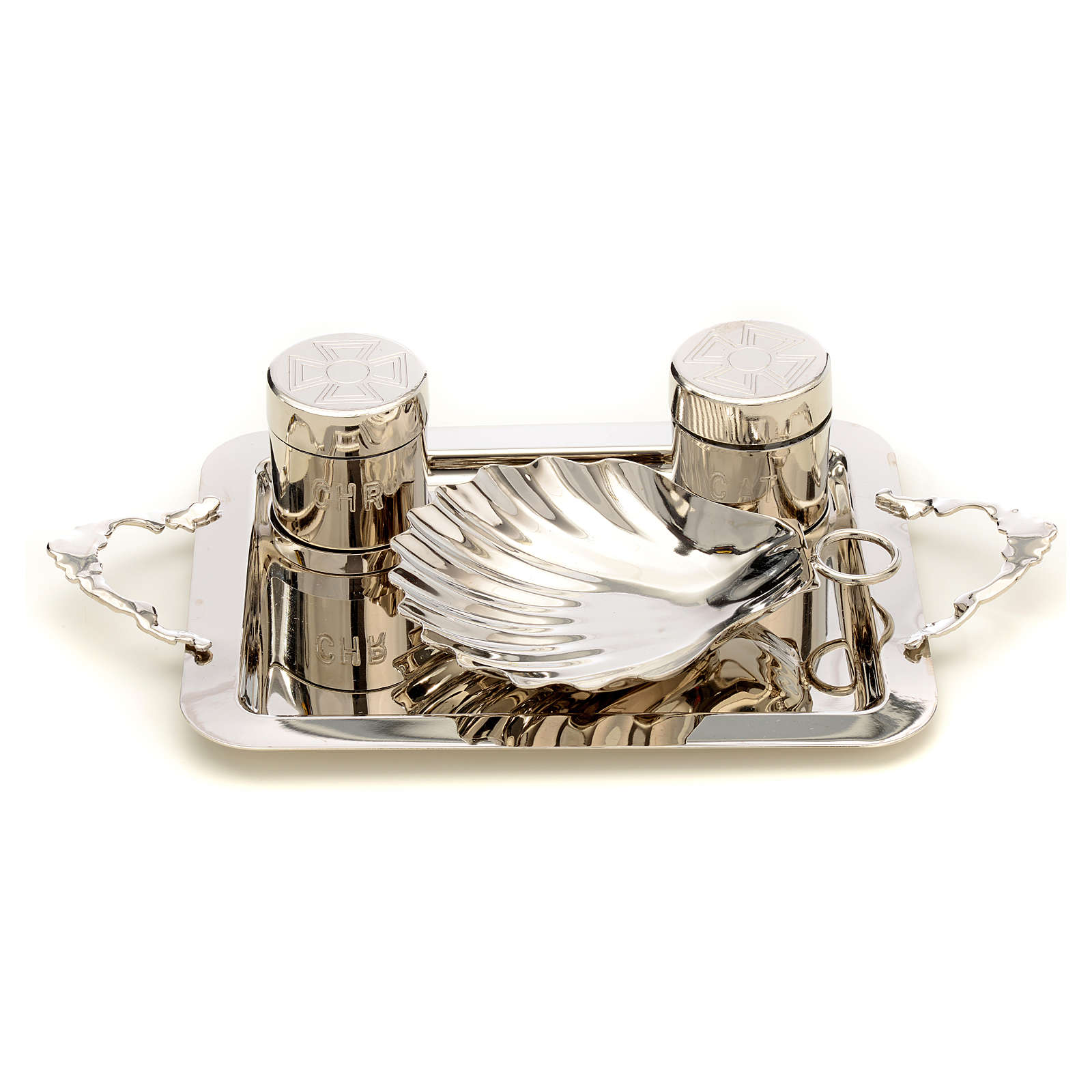 Set for Baptism in silver brass 3