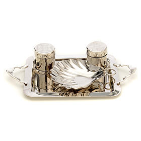 Set for Baptism in silver brass s1