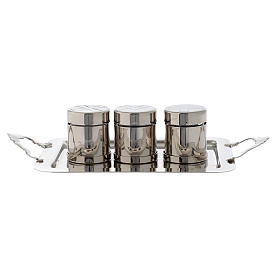Set for Holy oils in silver brass s1
