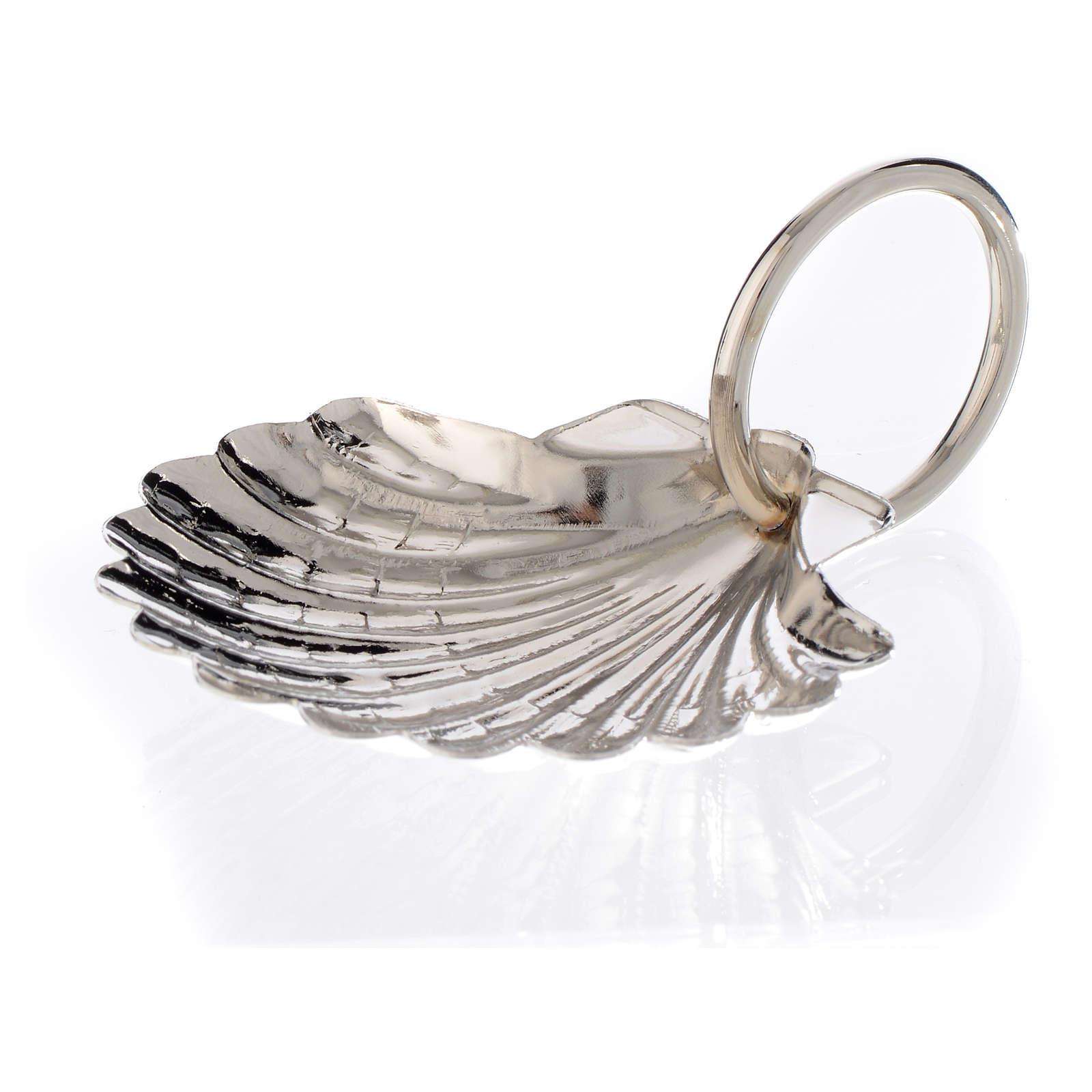 Coquille pour baptême en feuille de métal palladiée 6 cm 3