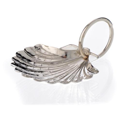 Concha para batismo chapa platinada 6 cm 1