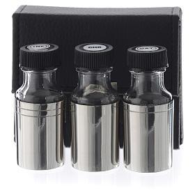 Estuche con tres crismeras santos óleos 30 cc s1