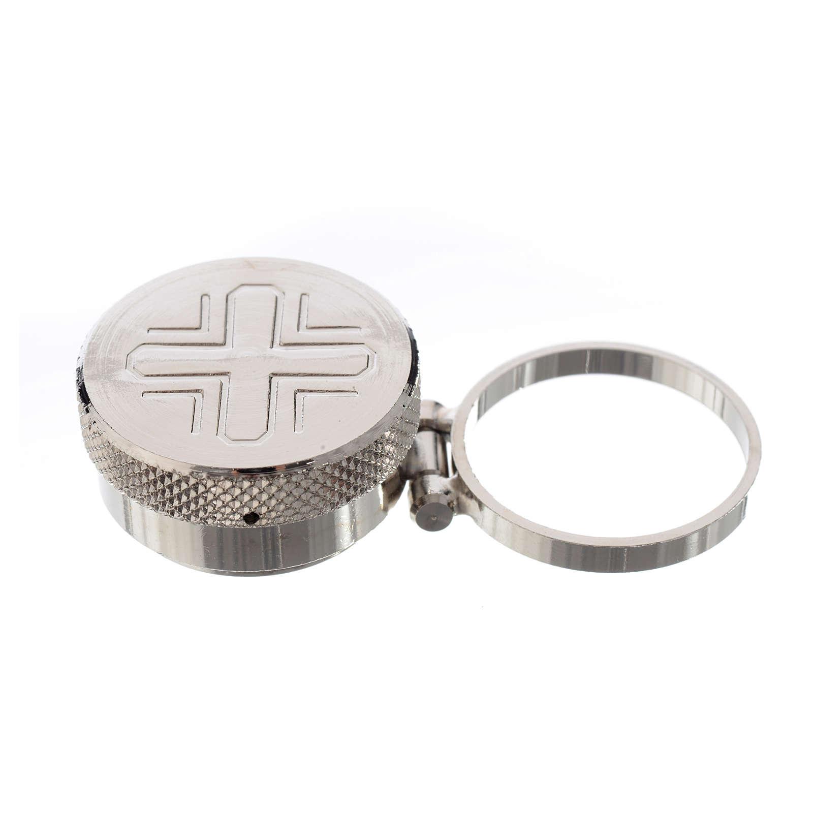 Vasetto mignon per oli sacri con anello 3