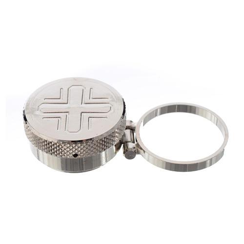 Vasetto mignon per oli sacri con anello 1